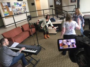 Angela and Brittany working with vocal Joelle and Raphael