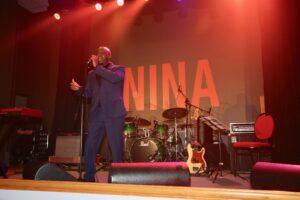 Terrell Edwards performing at Here's Nina 2019