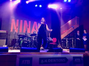 Colleen Rae performing at Here's Nina 2019