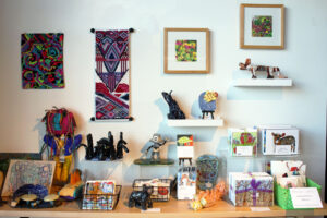 Gift shop featuring original local art and merchandise