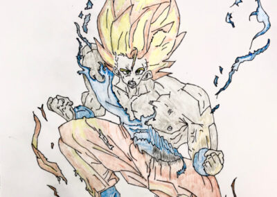 Goku drawing by John Barayuga