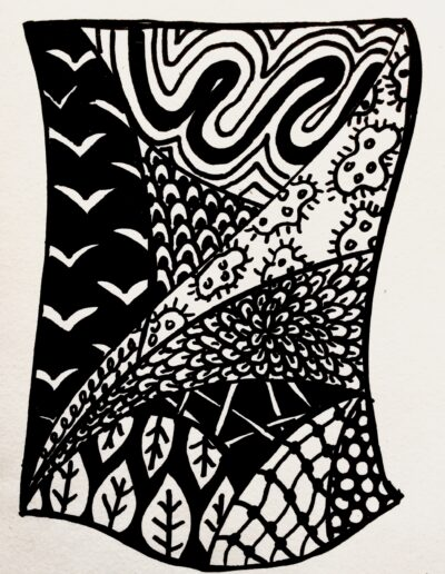 Maddi's zentangle example
