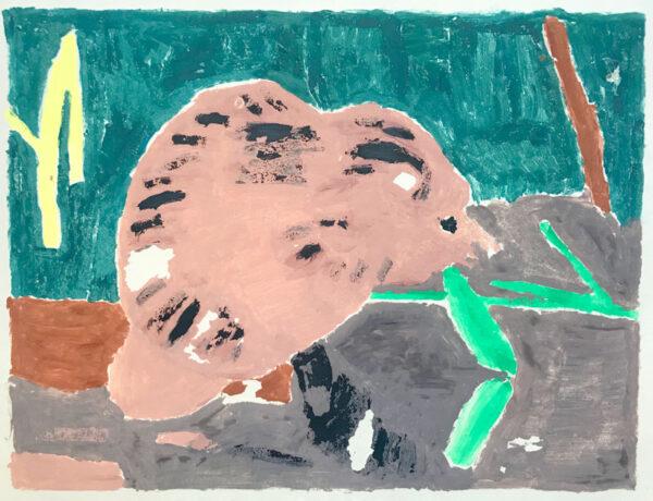 Beaver Monoprint by Margaret B