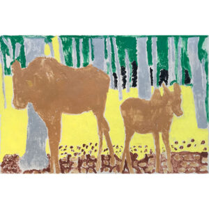 Moose monoprint by Margaret B