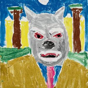 Werewolf monoprint by Randy Stennes