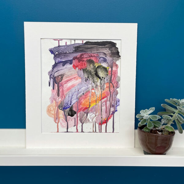 Abstract monoprint by Stephaine Chapman