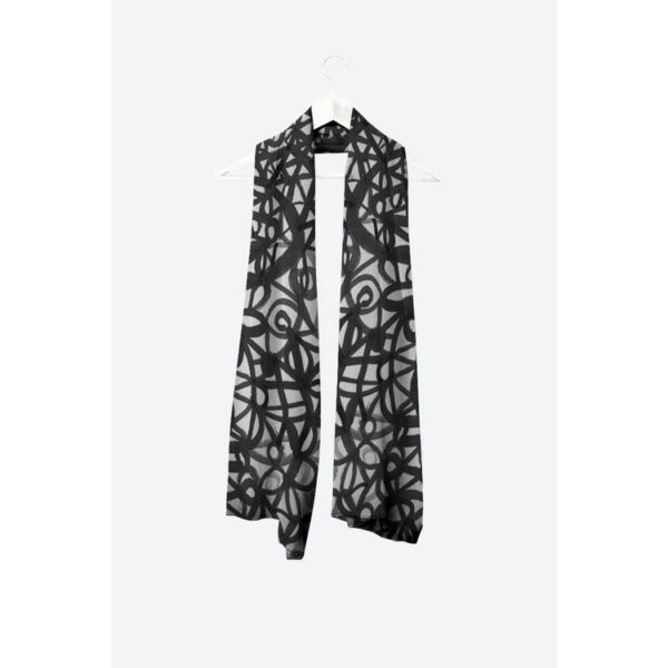 Black and White Scarf by Uli Rossier